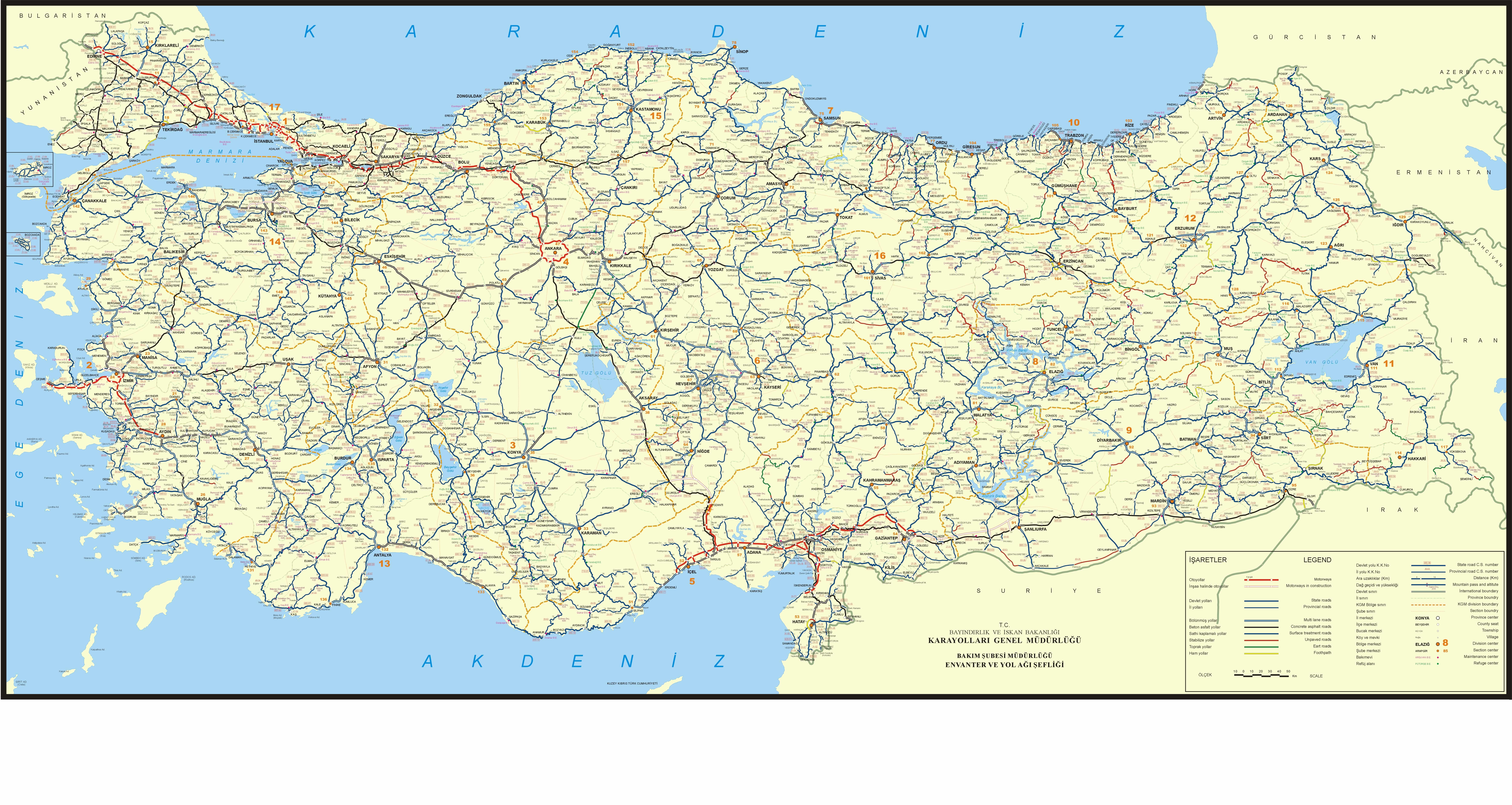 الخريطة السياحية لتركيا بالعربي - خريطة تركيا