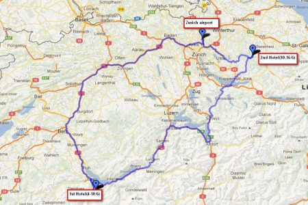 مخطط سفر سويسرا وايطاليا