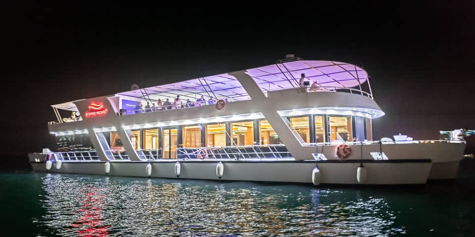 طريقة حجز رحلة عشاء بحرية فاخره في دبي