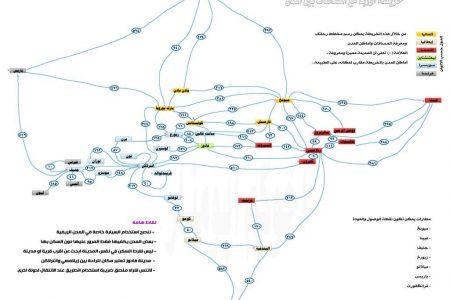 خريطة اوروبا بالعربي والمسافات بين المدن