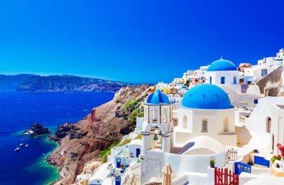سانتوريني تقرير عن اجمل جزيزة في اليونان