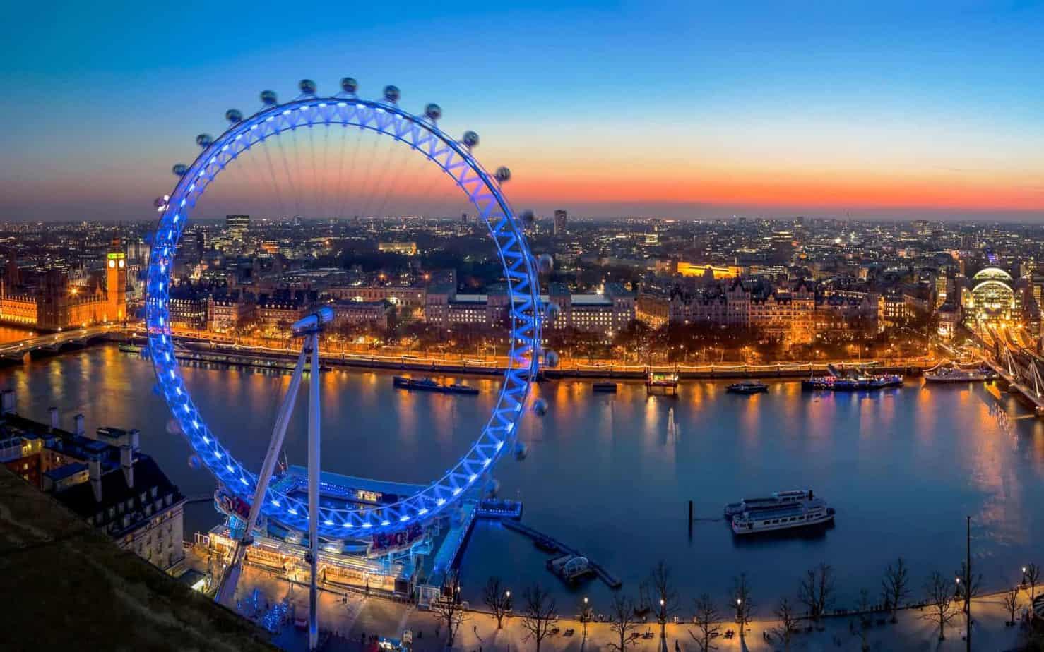 اهم الانشطة السياحية في عين لندن