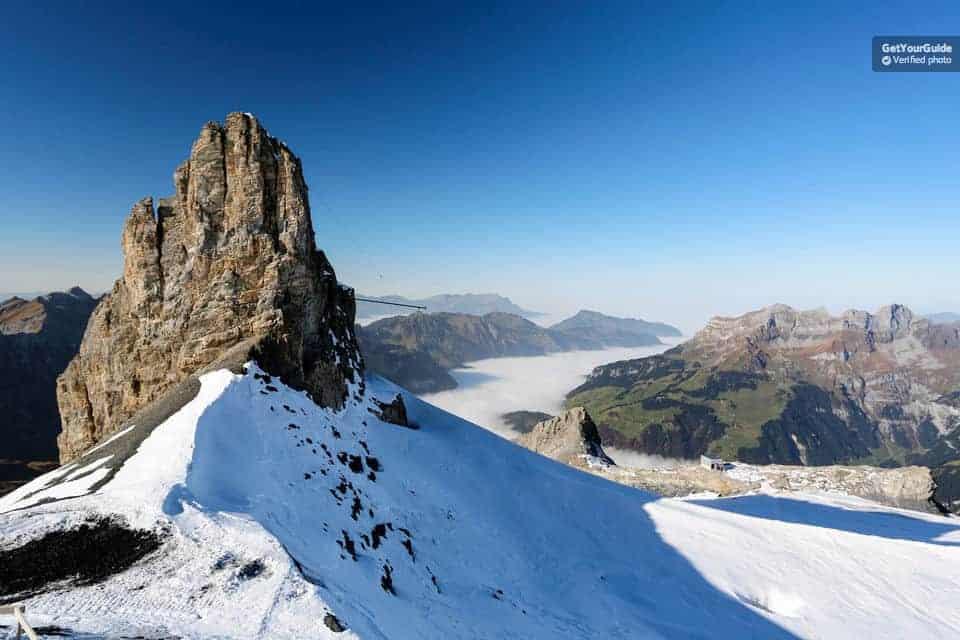 """شرح حجز جولة يوم واحد في جبل """"Titlis"""" تنطلق من زيورخ"""