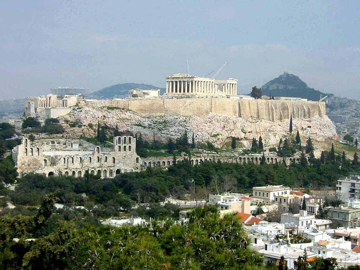 تذكرة لدخول اكروبوليس والمشي في اثينا