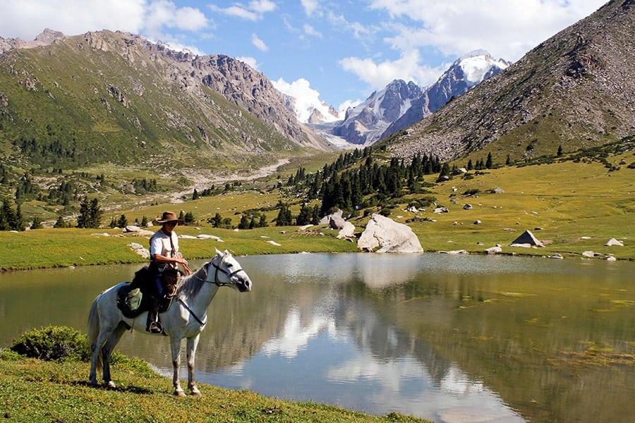 المناظر الطبيعية في قرقيزيا