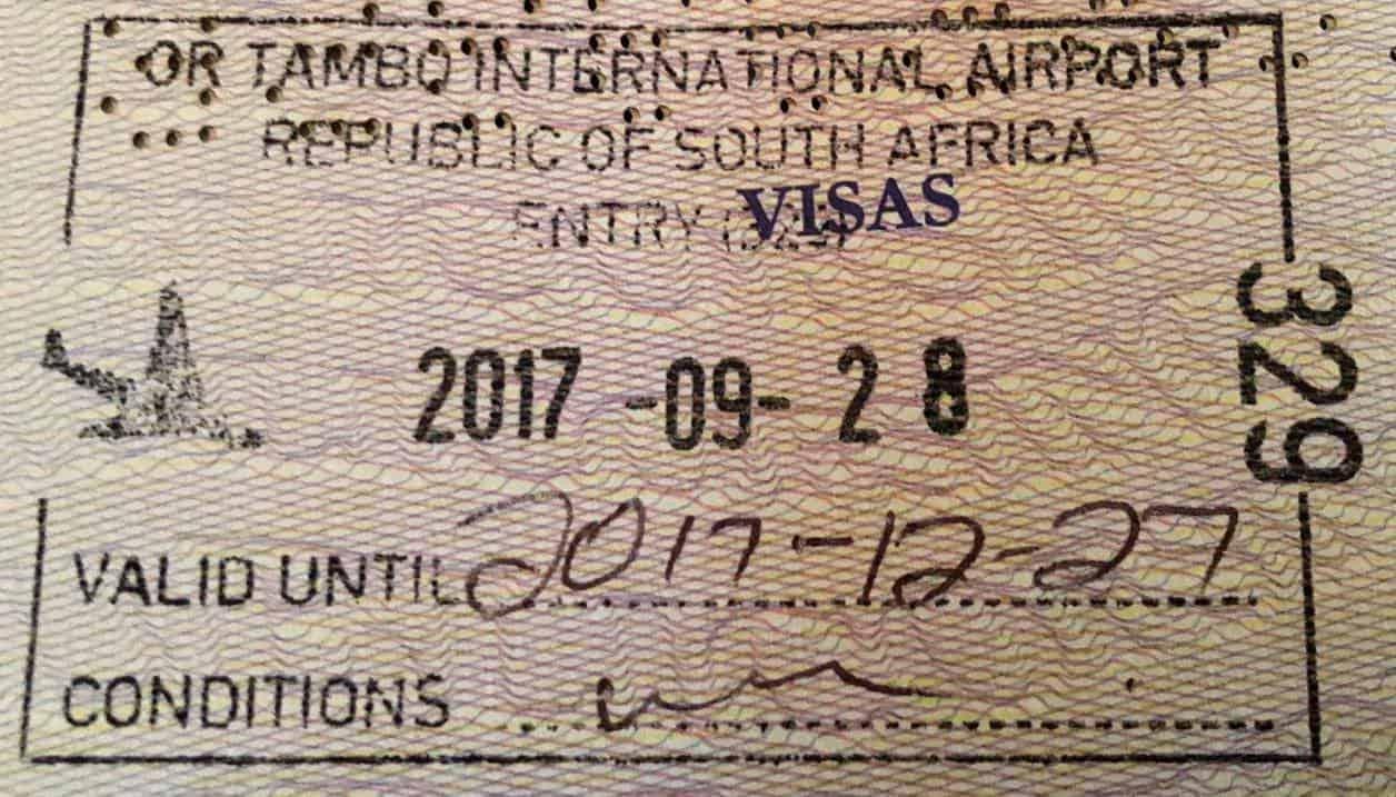 كل مايتعلق بتأشيرة جنوب إفريقيا