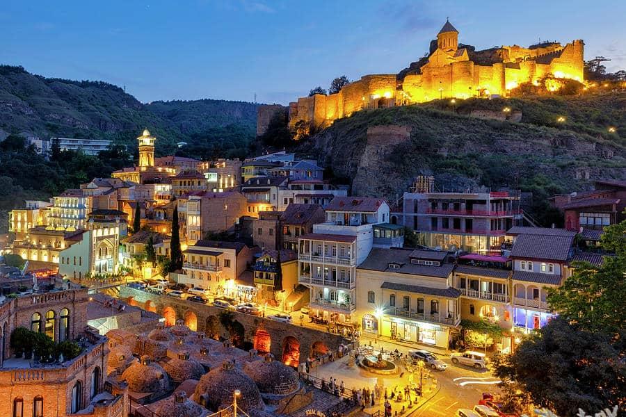 المدينة القديمة في تبليسي جورجيا