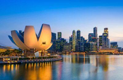 موقع سنغافورة والمسافات بين اهم مدنها