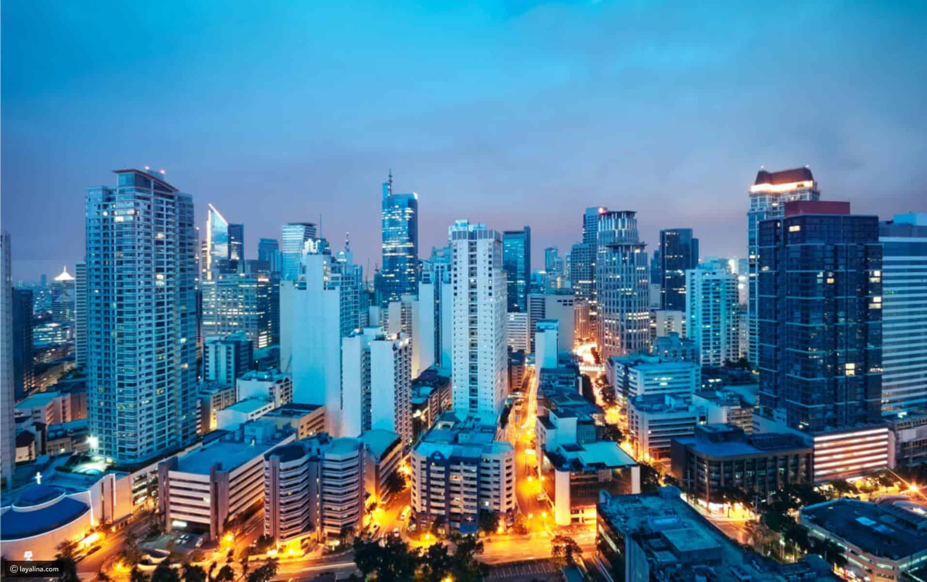 موقع مانيلا ومسافات اهم مدن الفلبين السياحية