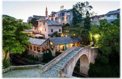 موستار اين تقع والمسافات بين مدن البوسنة والهرسك