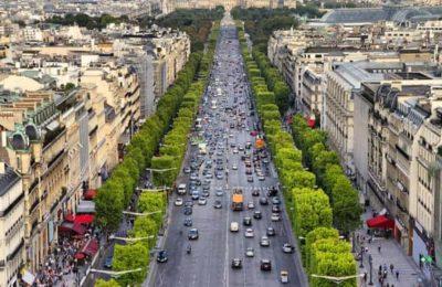 أين موقع الشانزليزيه في باريس