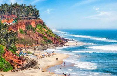 افضل 4 انشطة عند شاطئ فاركالا كيرلا الهند