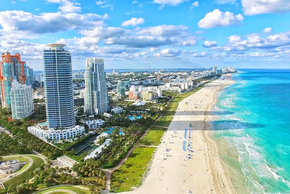 الاستمتاع بجمال شاطئ ميامي