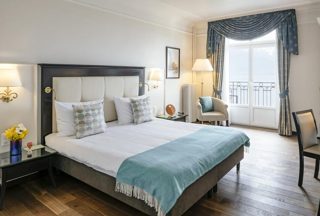 غرفة نوم من فندق غراند سويس ماجيستيك