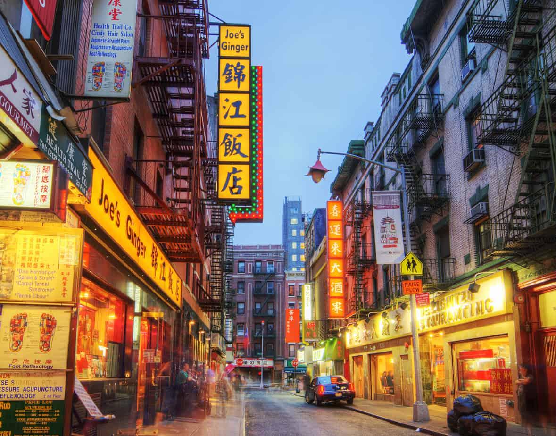 الحي الصيني من اشهر اماكن التسوق في نيويورك