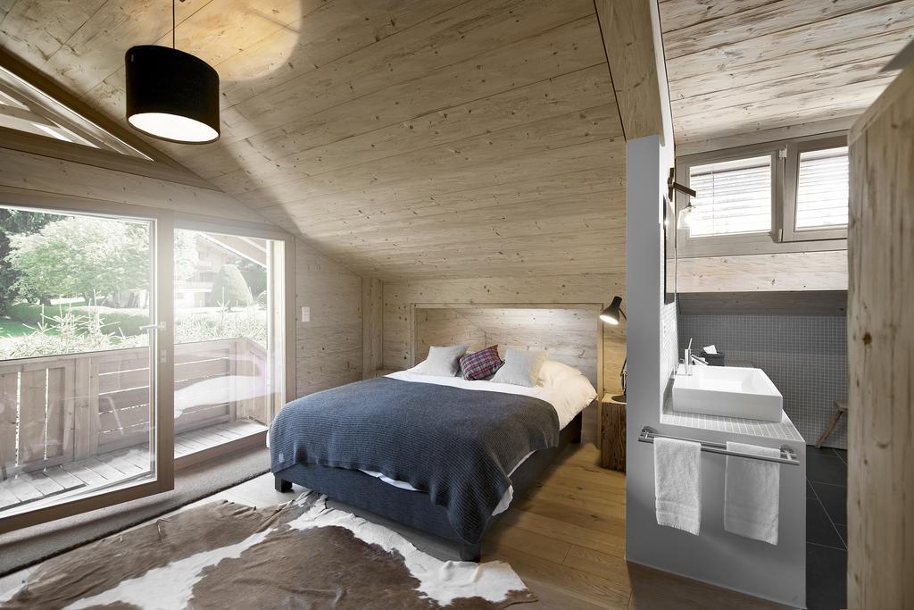 صورة احد الغرف في كوخ مازوتس دو سويسرا