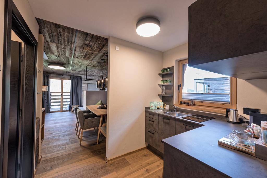 صورة المطبخ فب احد شاليهات بيرجويزينغلوك النمسا