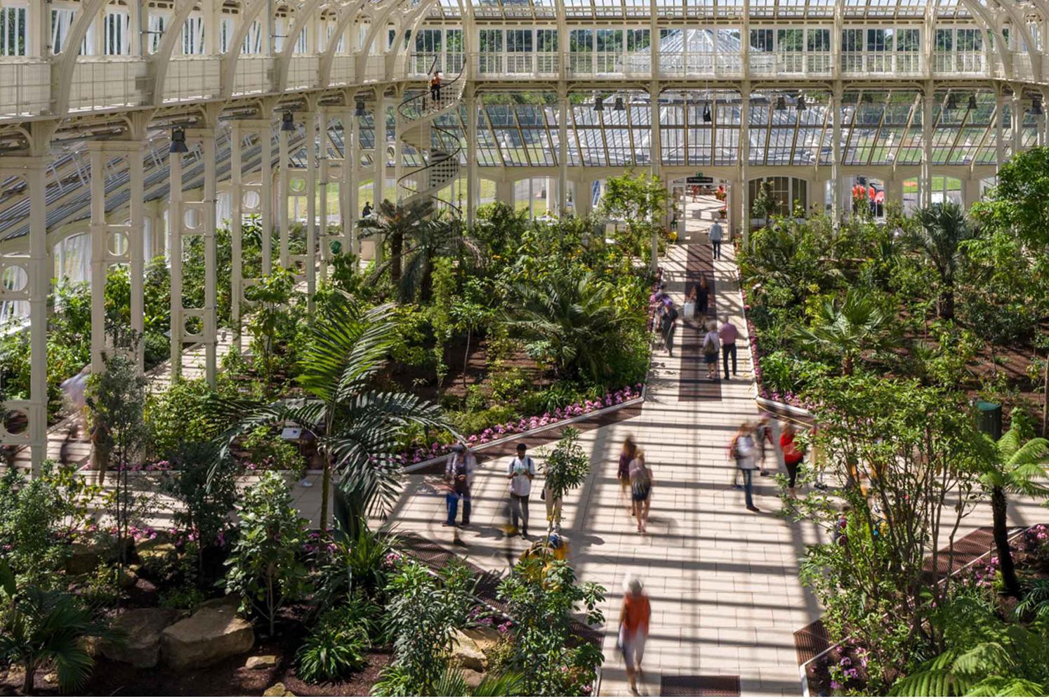 صورة لاحد اجزاء حدائق كيو النباتية في لندن