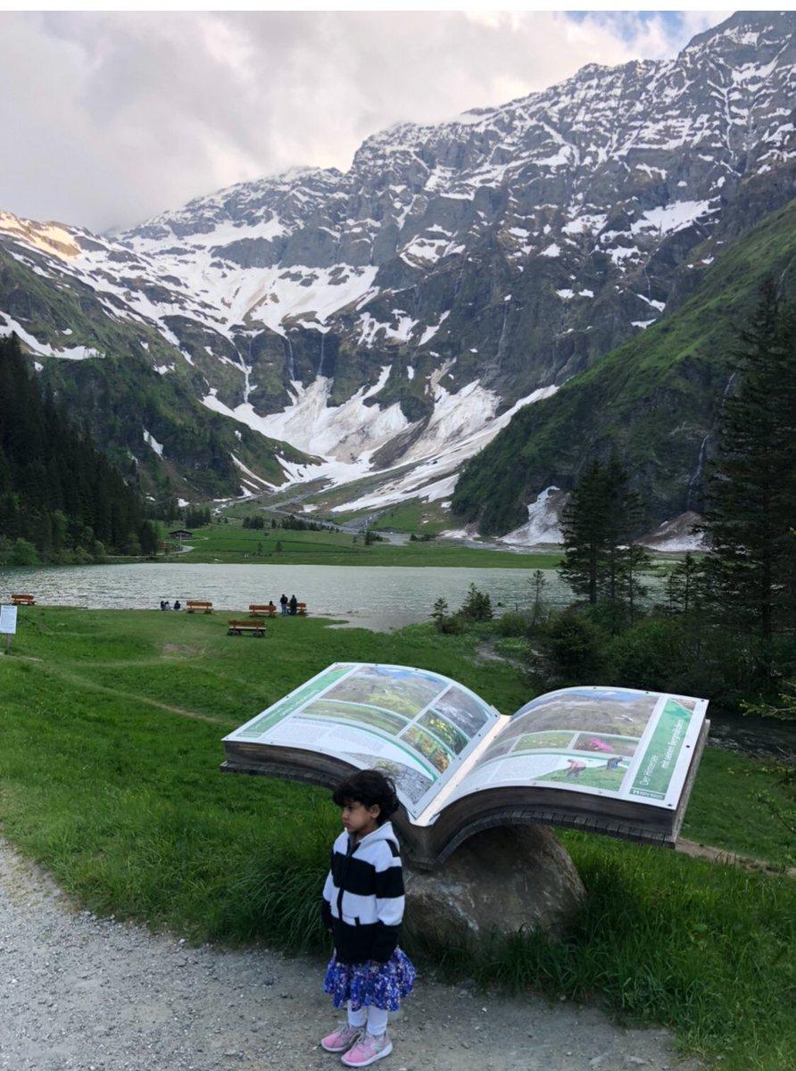 صورة لبحيرة هنترسي في النمسا والطبيعة المحيطة بها.